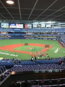 大阪ドームで野球観戦
